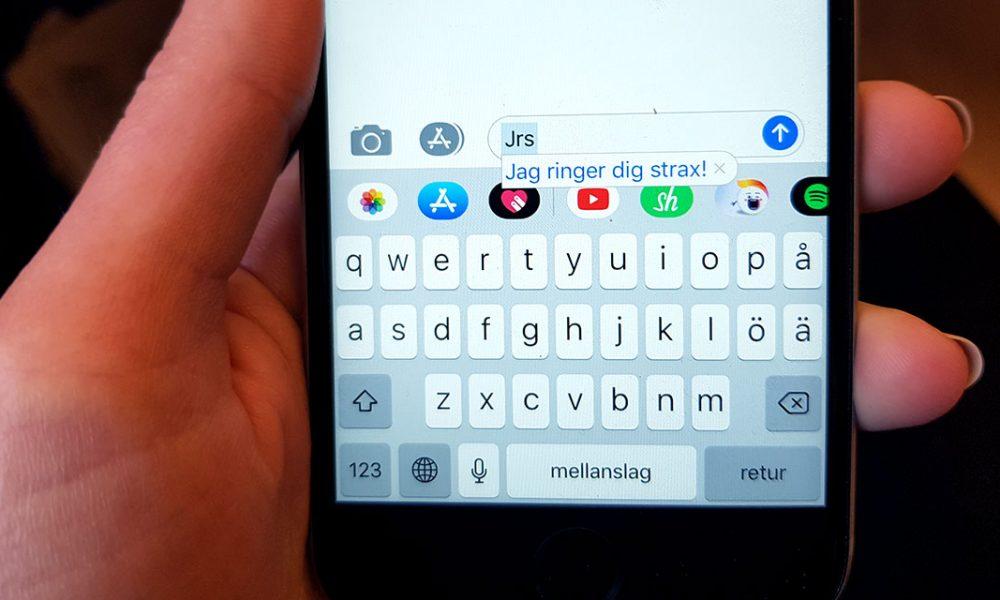 Har du koll på dina kortkommandon i din iPhone?