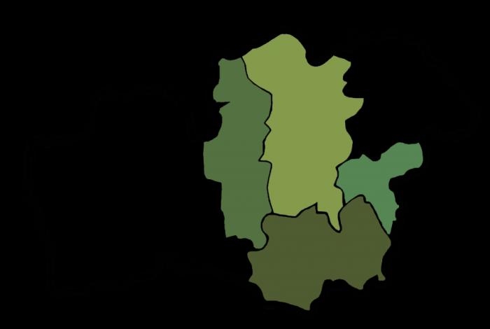Karta över Wexnets ägarkommuner.