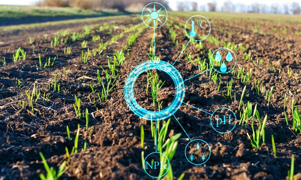Kontroll av rätt mängd näring med hjälp av sensorer